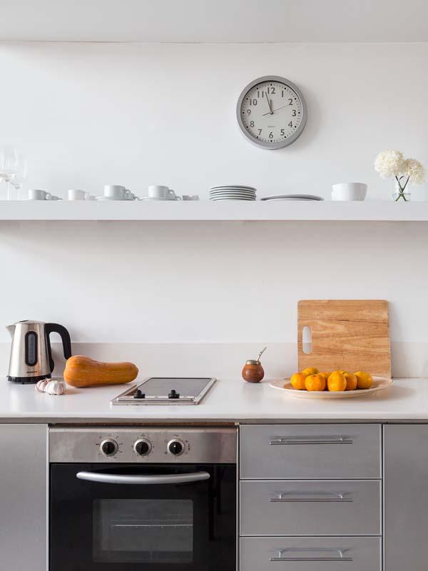 Cocina de un Departamento en Palermo retratado por un Fotógrafo de Arquitectura de interiores, Buenos AIres, Argentina