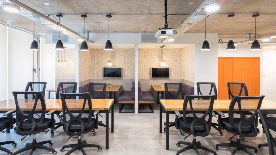 Arquitectura interior de oficinas de coworking, Belgrano, Buenos Aires