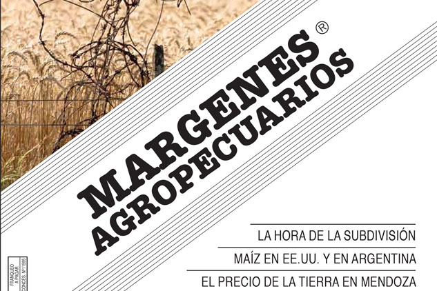 tapa de la revista Márgenes agropecuarios con una foto stock del campo argentino del Banco de imágenes de Marco Guoli
