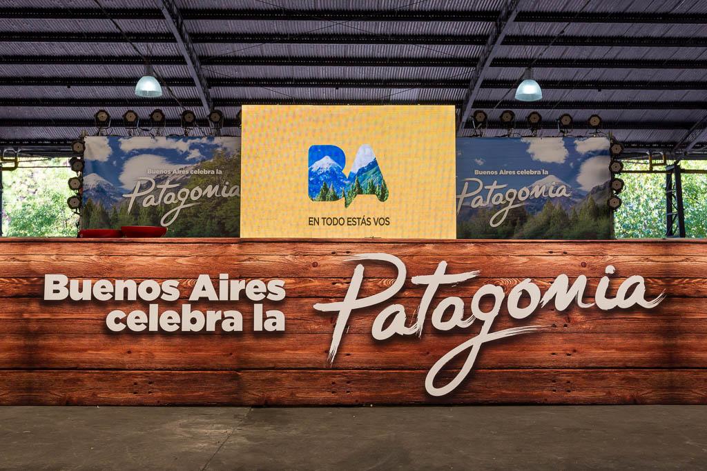 Gigantografías para GCBA en vinilo en el área del escenario del distrito audiovisual de Buenos AIres, con imágenes de Argentina del Banco de imágenes de Marco Guoli, usadas en el evento Buenos Aires celebra las regiones