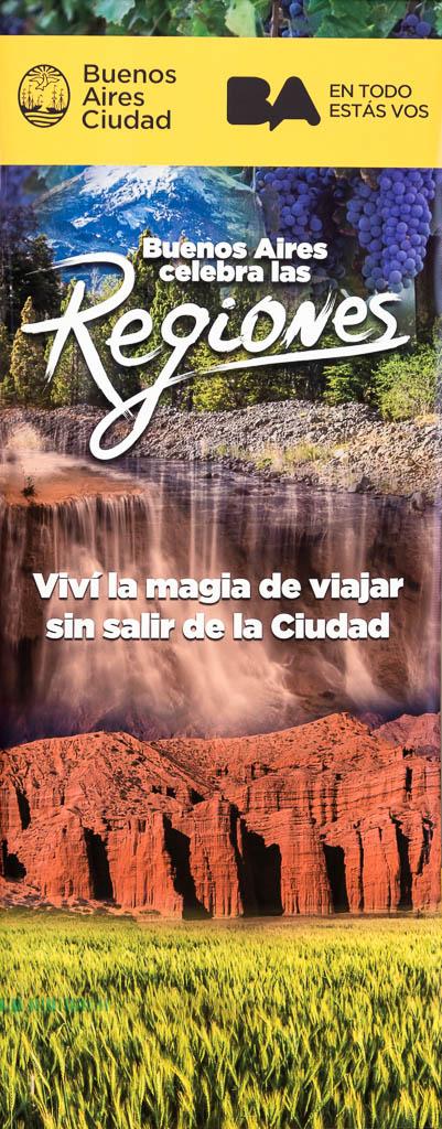 Gigantografía para GCBA en un cartel vertical de vinilo en el distrito audiovisual de Buenos AIres, con imágenes de Argentina del Banco de imágenes de Marco Guoli, usadas en el evento Buenos Aires celebra las regiones