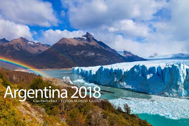 Calendario Argentina 2018, la tapa con el Glaciar Perito Moreno, Santa Cruz, Argentina