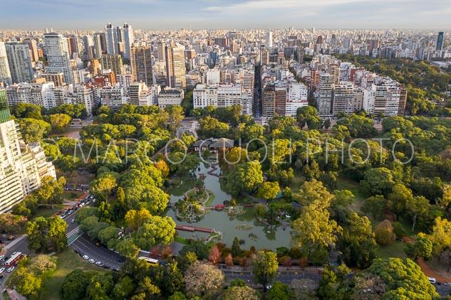 Vista aérea del Jardín Japonés, Buenos Aires