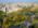 Aerial photo of Buenos Aires, Argentina, with El Rosedal Promenade.