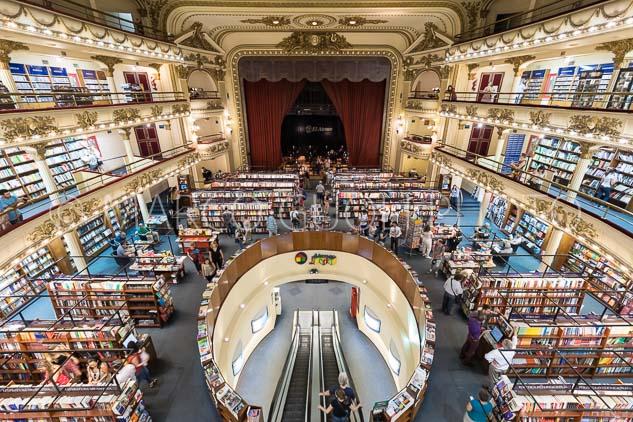 Arquitectura de interiores de la librería El Ateneo Grand Splendid, Buenos Aires