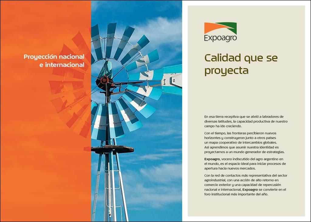 Tapa de la carpeta Expoagro Baradero con fotos en alta resolución del campo argentino de Marco Guoli