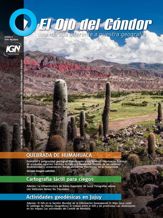 Retiración de tapa de la revista del Instituto Geográfico Nacional con una fotografía de Marco Guoli de la Quebrada de Humahuaca