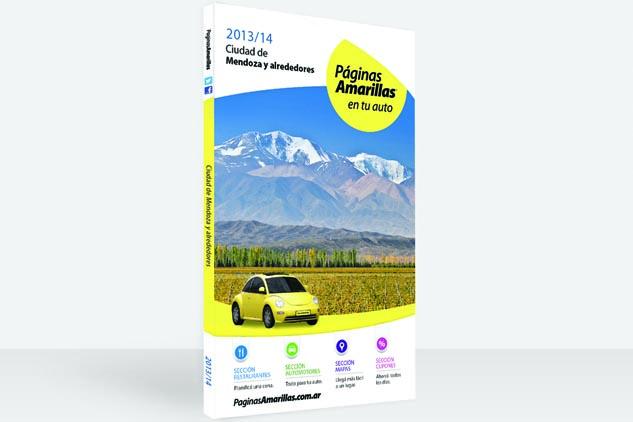 Tapa de Páginas Amarillas del volumen de la ciudad de Mendoza y alrededores, con una fotografía de calidad profesional del Valle de Uco de Marco Guoli