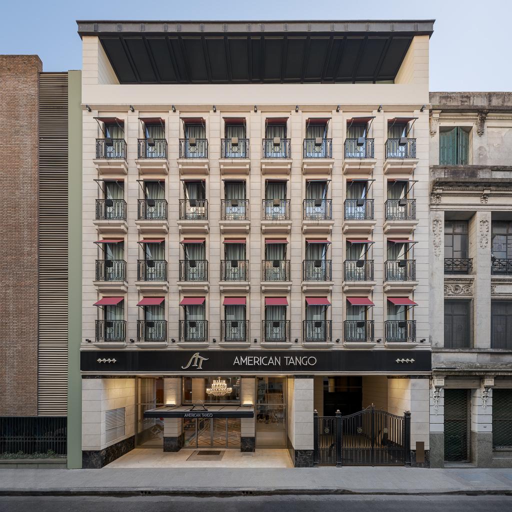 Fotografía de la arquitectura exterior de un edificio comercial, Buenos Aires, Argentina