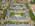 Foto aérea con drone de arquitectura del complejo Jardines de San Isidro, San Isidro, Argentina