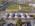 Foto aérea de arquitectura del conjunto Santiago de Compostela, Buenos Aires, Argentina