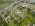 Foto aérea con drone de una empresa potabilizadora de agua, Aldo Bonzi, Argentina