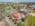 Foto aérea con drone de una empresa de construcción, Victoria, Argentina