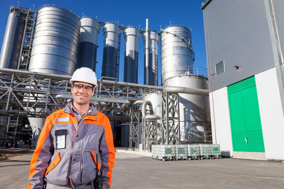 Corporate photo for a cellulose company in Uruguay