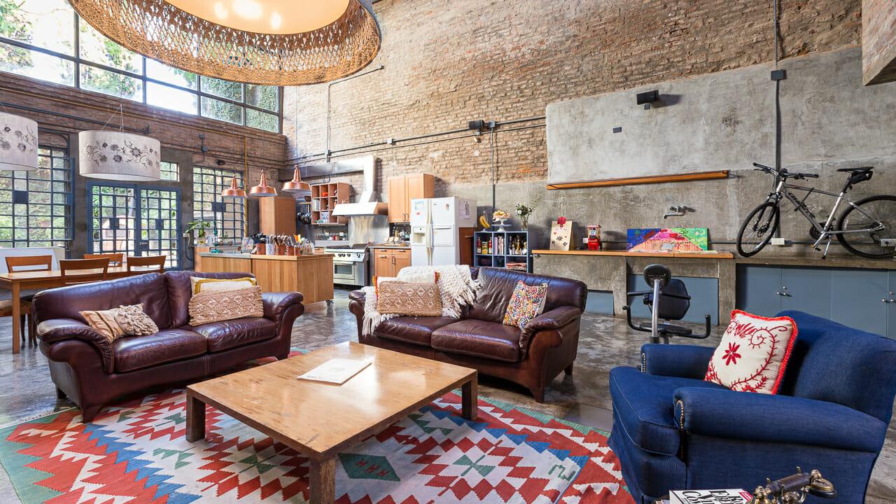 Foto de los interiores de un loft en Palermo Soho, Buenos AIres, Argentina
