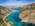 Fotografía aérea de un paisaje En la provincia del Neuquén, Argentina