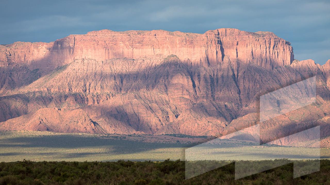 Imagen de un paisaje de Argentina en el Parque Nacional Talampaya