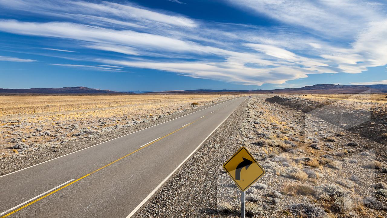 Foto de un paisaje en la Patagonia, Argentina