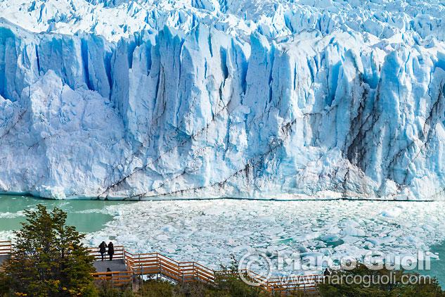 Mes de agosto del Calendario Argentina 2015 con una imagen del glaciar Perito Moreno, Santa Cruz